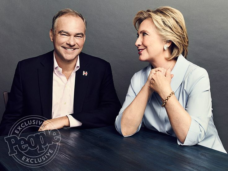 Tim Kaine and Hillary Clinton   What Hillary Clinton Thinks of Tim Kaine Nicknames Like 'Human Sweater ...