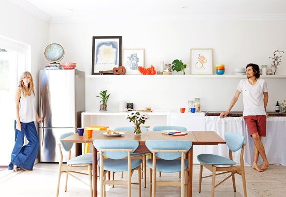 -:-: Kitchens, Dining Room, Ideas Kitchen, Beach House, Color, Interiors, Brick, Light