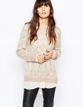 Selected – Kime – Flauschiger Mohair-Pullover mit Pompon
