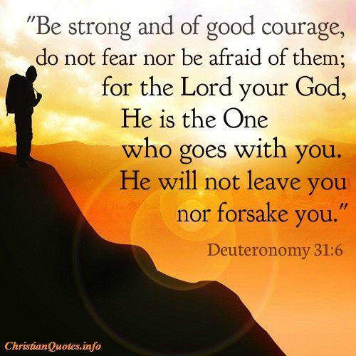 Image result for be strong and of good courage