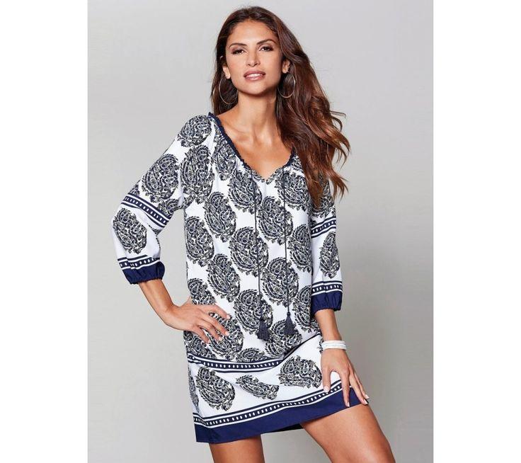 Tunikové šaty se 3/4 rukávy | modino.cz #modino_cz #modino_style #style #fashion #summer #bestseller