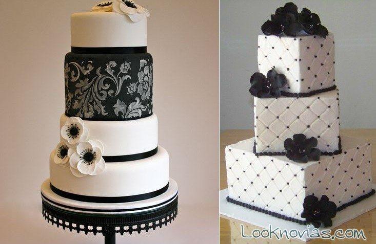 Nuevas Tendencias en Decoración de Tortas: Tortas de Boda - Decoración -Blanco y…