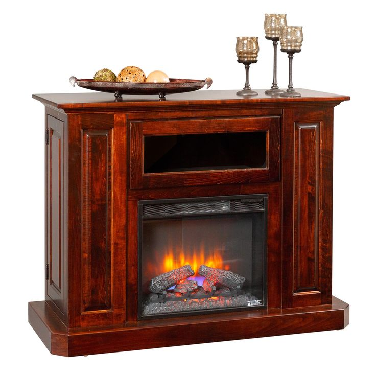 Amish Deluxe Fireplace Entertainment Center