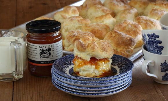 Scones made with cream and icing sugar | Maggie Beer