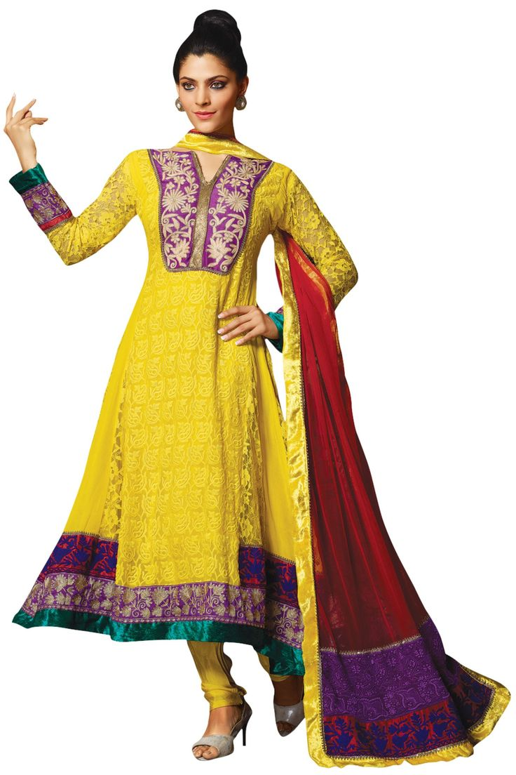 Wonderful While She Looked Stunning Donning A White And Light Blue Floor Length Anarkali