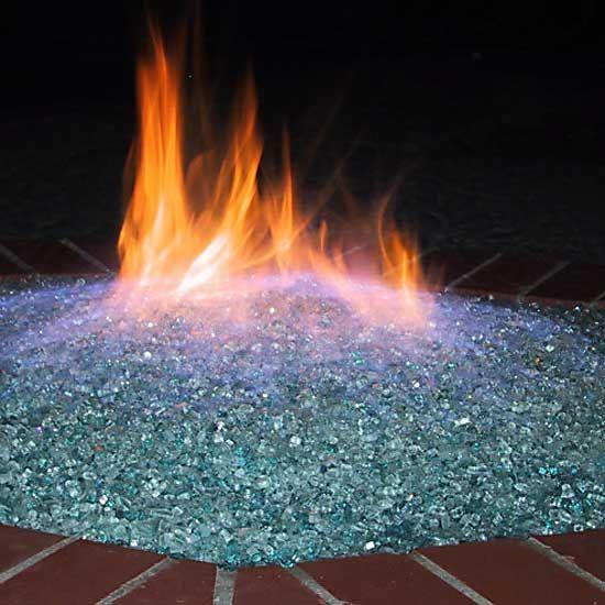 Fire Pit Glass using Aquatic Glassel