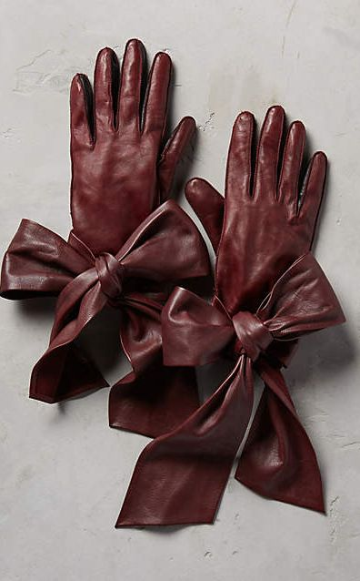 Streaming Bow Leather Gloves #anthroregistry