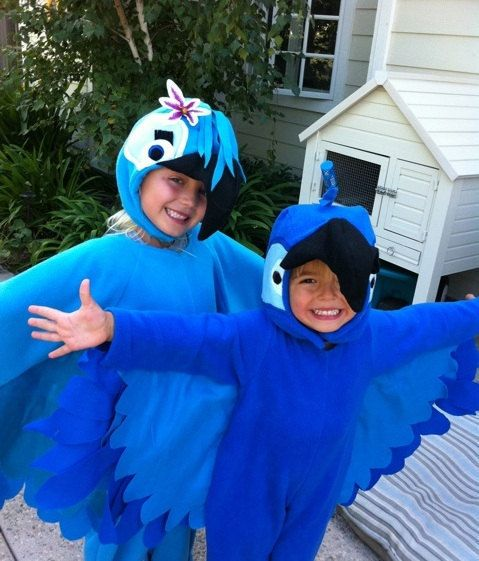 Custom Made Child Blue Blu OR Jewel Colored Macaw Inpired By Rio Inspired Halloween Costume