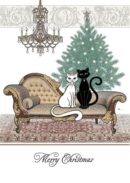 BugArt Christmas Kitty ~ Chaise Tree. CHRISTMAS KITTY Designed by Jane Crowther.