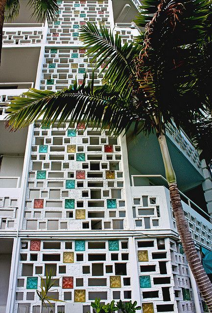 Mid-Century Screen Wall Block, Miami.  Wonder if the condo association will let me remodel?