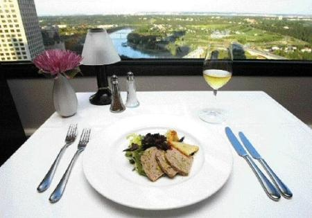 La Ronde: Edmonton's revolving restaurant at Crowne Plaza Chateau Lacombe. Day or night, you get a great 360 degree view of downtown Edmonton.