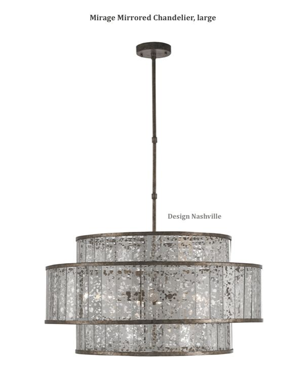 Antique mirror in a three tiered drum chandelier. DesignNashville fine  lighting shipping to all locations. - 3173 Best Urban, Modern, And Industrial Interiors Images On