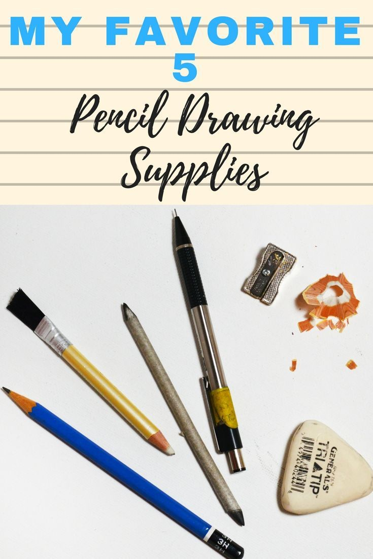 My Pencil drawing tools are simple but essential! Click to see my preferred brands!