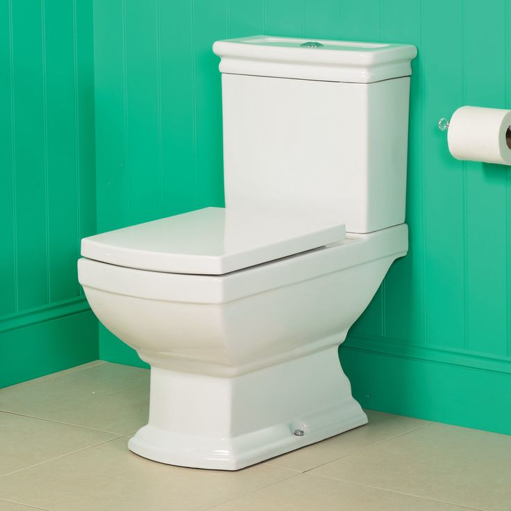 Toilet WC Bathroom Traditional Close Coupled Pan Soft Slow Close Seat Victorian in Home, Furniture & DIY, Bath, Toilets & Bidets   eBay