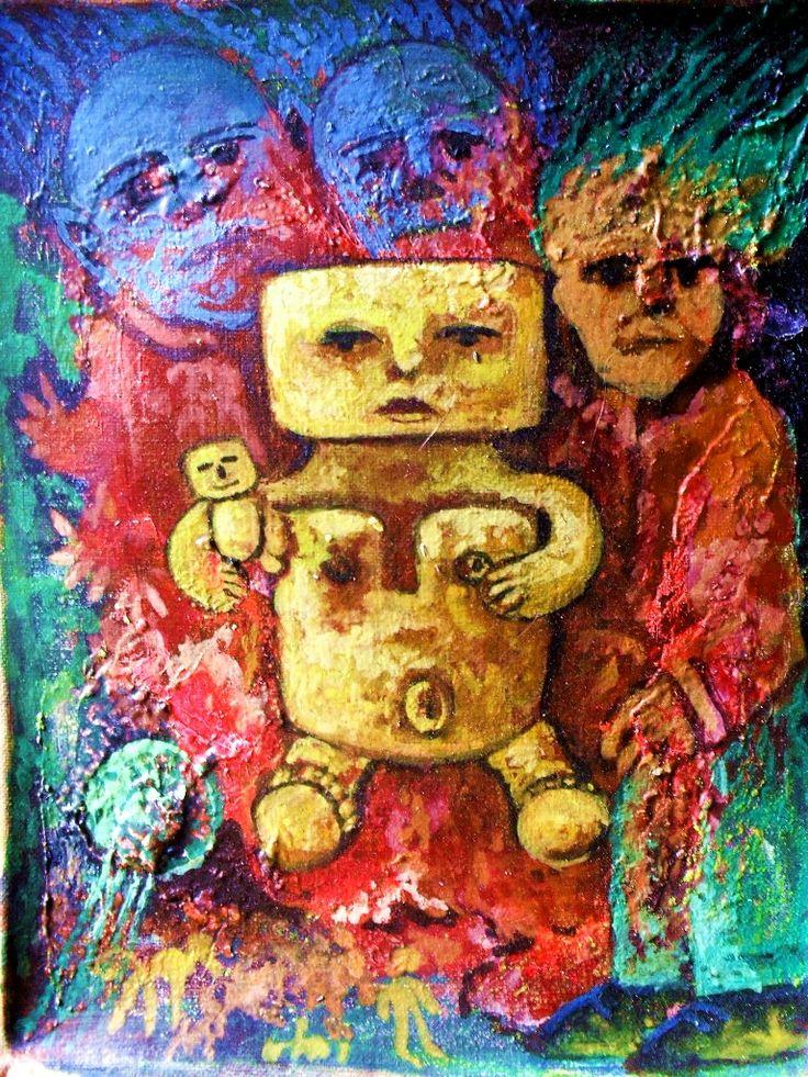 Oleo sobre tela.2013. Antropologia cultural. 4-de la serie Yurupary Oca.
