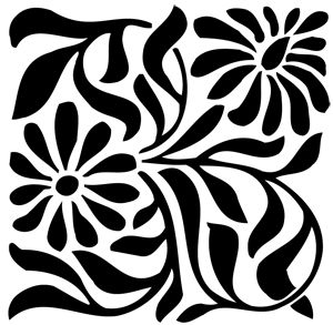 Floral Design For Painting Onto A Table Cloth Or Runner Graduation