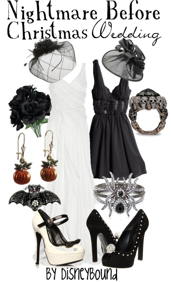 """Nightmare Before Christmas Wedding"" pinning for the dress only- be good for my bridesmaids!"