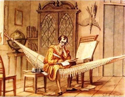 jean baptiste debret   Sábio trabalhando no seu gabinete no Rio de Janeiro , 1827