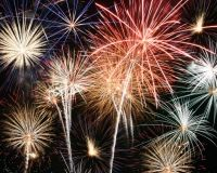 Fireworks shows on Mondays at 10:15 at Barefoot Landing, we might be able to see it from our condo!