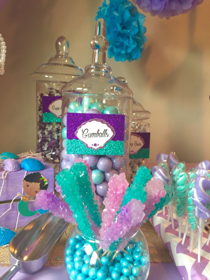 under the sea theme table by glam candy buffets