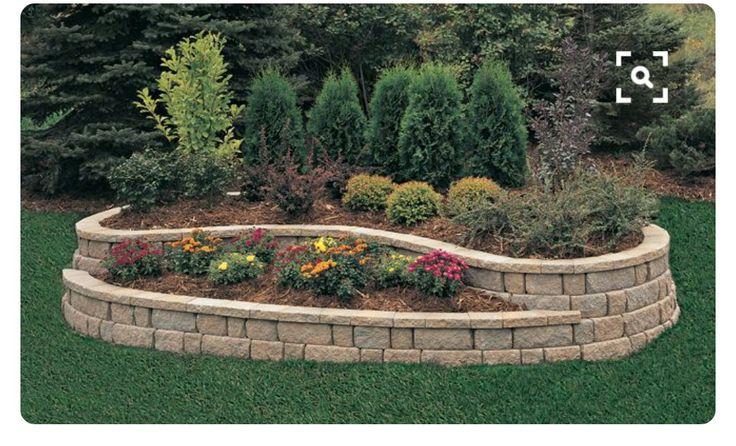 Circle Drive Stone Walls Garden Landscaping Retaining