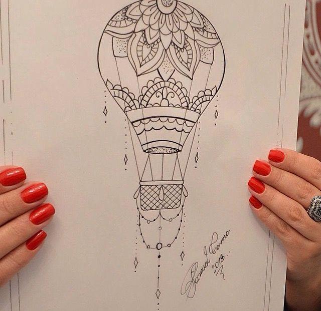 Levantando Voo Air Balloon Tattoo Balloon Tattoo Tattoos