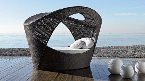Single bed / contemporary / aluminum / synthetic fiber ALTEA ALCOVA : 1626 Varaschin