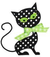 Cat Applique Design