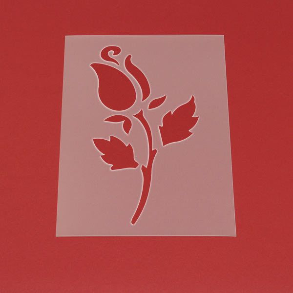 Schablone Blume Rose - MF24 von Lunatik-Style via dawanda.com