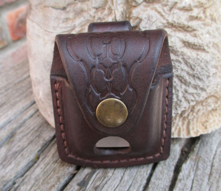 Leather Belt Pouch for Zippo Lighter by SpearingLeather on Etsy