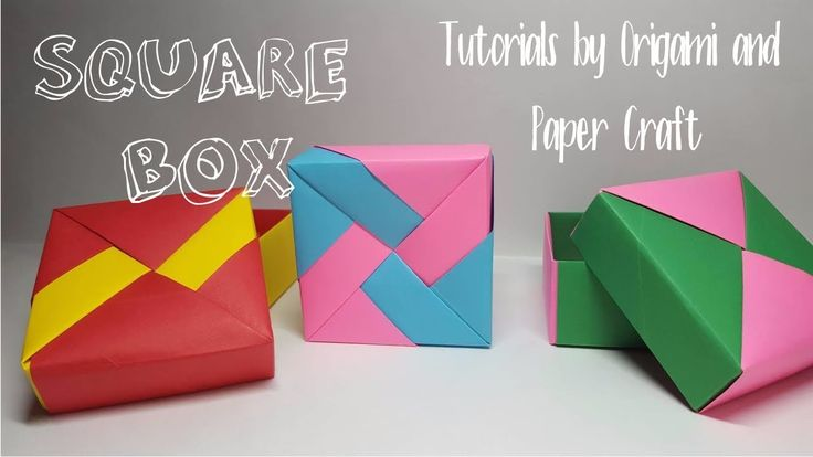 Origami: Square Box (Easy and Fast) | Tutorial for beginners!