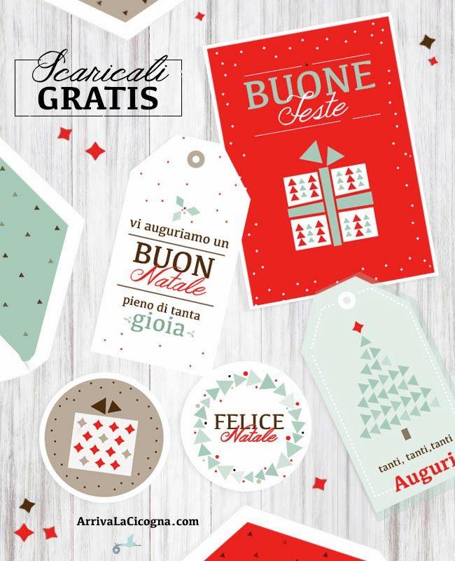 Arriva la cicogna: Biglietti di auguri di Natale da stampare gratis per voi!