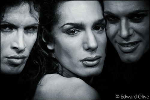 Black & White Chueca Madrid 2006 street portrait - Edward Olive portrait photographer