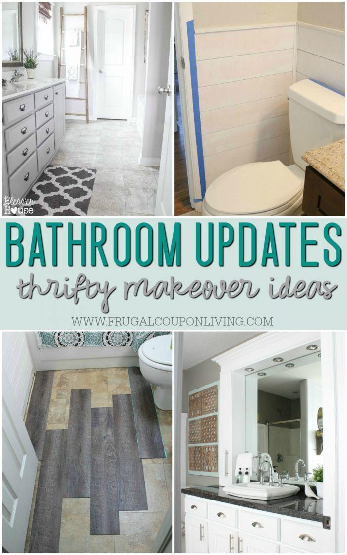 Remodeled Bathroom Ideas | Budget-friendly, Inspiring Makeovers to keep up with the Jones. Full list of frugal ideas on Frugal Coupon Living.