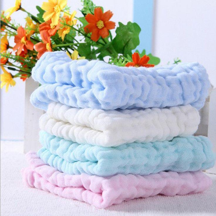 6pcs Soft Gauze Bath Towels Washcloth