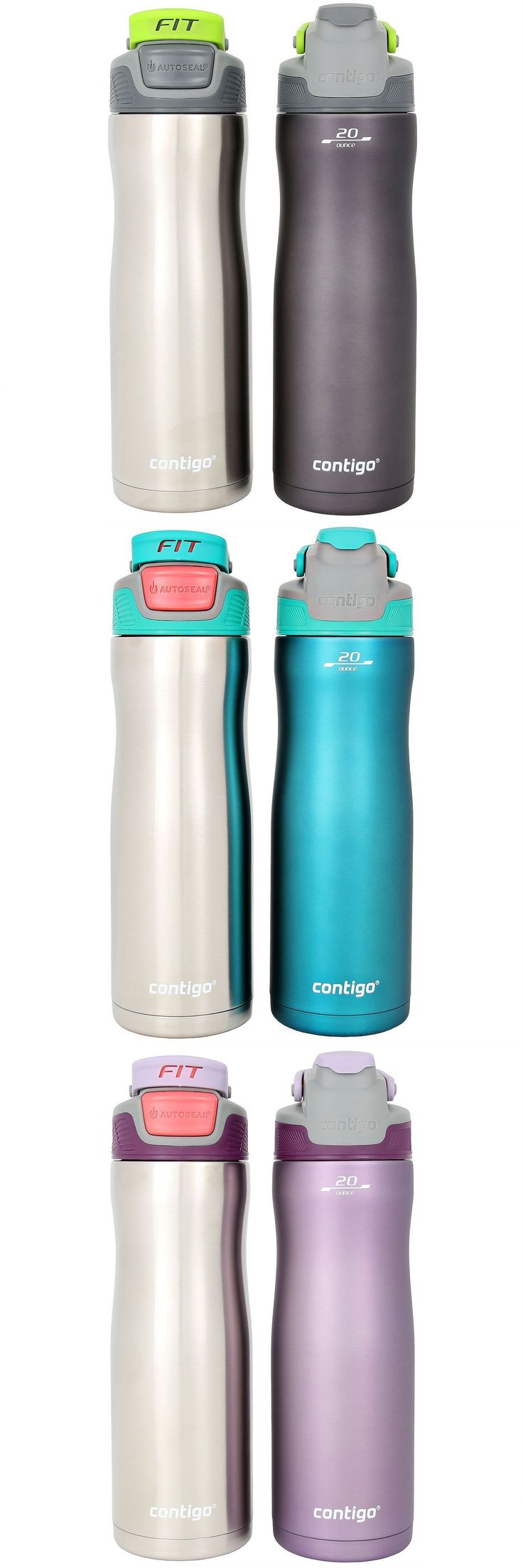 Drink Containers and Thermoses 177006: Contigo Autoseal Fit Trainer Stainless Steel Water Bottle 20-Ounce Oz Two Pack 2 -> BUY IT NOW ONLY: $30.5 on eBay!