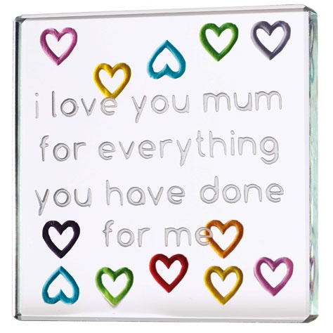 """""""I love you mum for everything you have done for me"""" #Spaceform #gifts #mothersday #giftsformum"""