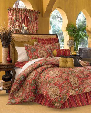 Moroccan Bedding Sets In Red 4pc Moroccan Red Dalyan