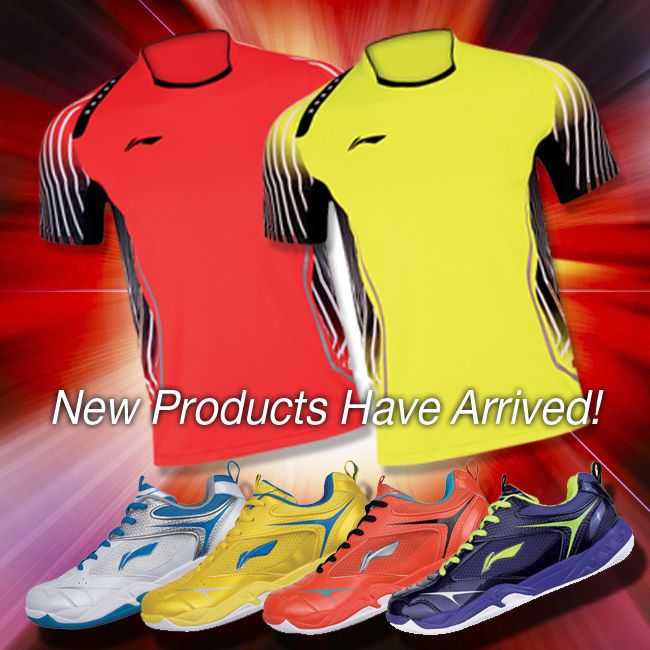 NEW FALL PRODUCTS HAVE ARRIVED! Our latest fall shipment of awesome Li-Ning badminton products is now in our warehouse and ready to ship including a BOATLOAD of shuttles, new men's clothes, new women's clothes, 6 new men's shoes starting from only $79, new bags, the new Windstorm 600 superlight racket, cool accessories plus a wide range of other new and exciting products. See your local USA and CANADA dealer or visit www.shopbadmintononline.com #MakeTheChange!