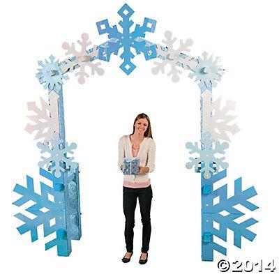 Winter Wonderland Arch - around doorways, lots of layered big snowflakes. Good use for cardboard.