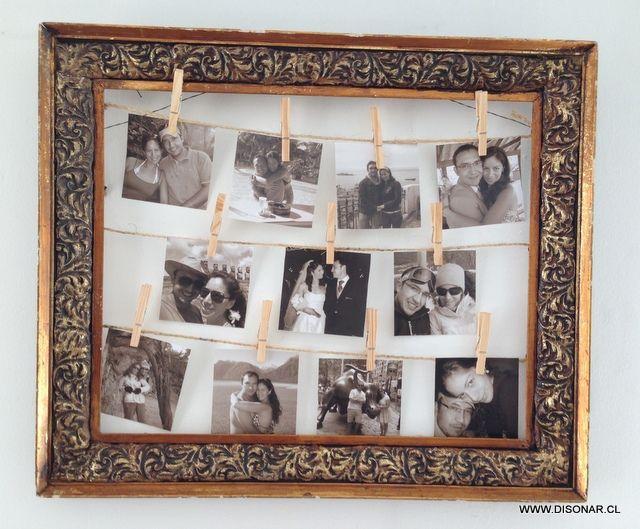 Fotos colgadas: una original forma de lucir nuestros recuerdos