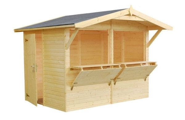 Great option for a garden/bar shed   ... uniquely designed garden shed with large serving hatchs and bar by roberta