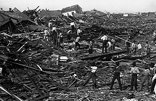 Still, despite the efforts of Hurricane Katrina, the deadliest natural disaster in U.S. history is the hurricane that hit Galveston on September 8, 1900 where 8,000 to an estimated 12,000 people were killed.  For more see http://www.history.noaa.gov/stories_tales/cline2.html & http://www.1900storm.com/