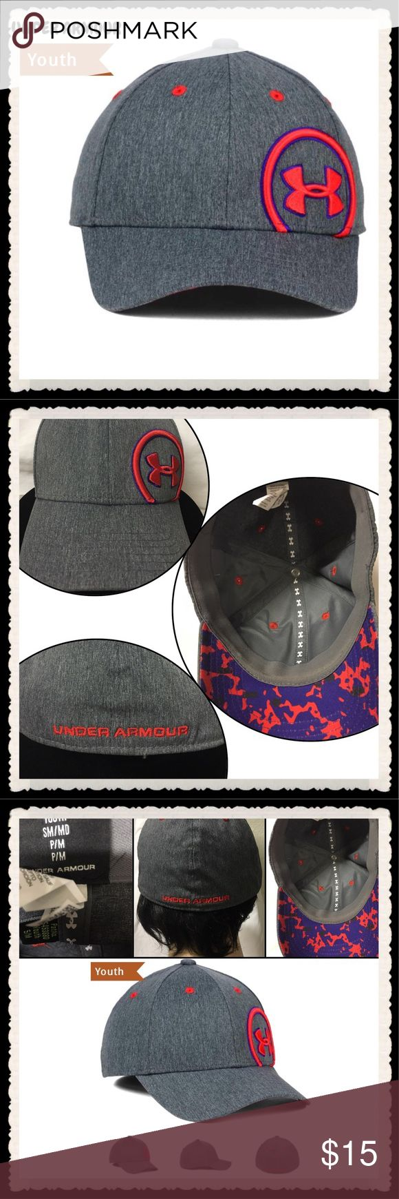 🆕 UNDER ARMOUR Storm Gray fitted baseball cap, UNDER ARMOUR Storm grey ladies/girls baseball Cap with pink/blue logo, youth size Sm/Med but fits other sizes too. Please refer to size chart. My oldest Son & I both wear this Sz so it actually depends on the size of your head. NWOT excellent new condition! MSRP $35 depends on where you would purchase new. Reasonable offers welcome. ⚾️ Under Armour Accessories Hats