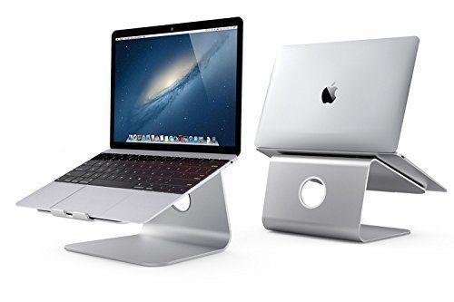 Spinido Erstklassig Alu-Magnesiumlegierung Cooling Laptop Stand, geeignet für Apple Macbook, alle Notebooks, Tablets, eBook-Reader und Bücher (Aktualisierte Version) (Silber)