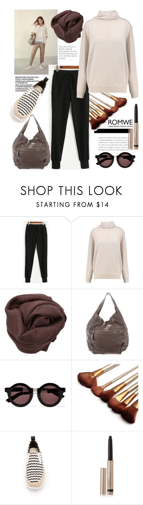 """""""Win Black Drawstring Waist Pants!"""" by grinevagh ❤ liked on Polyvore featuring Brunello Cucinelli, House of Holland, MSGM and By Terry"""