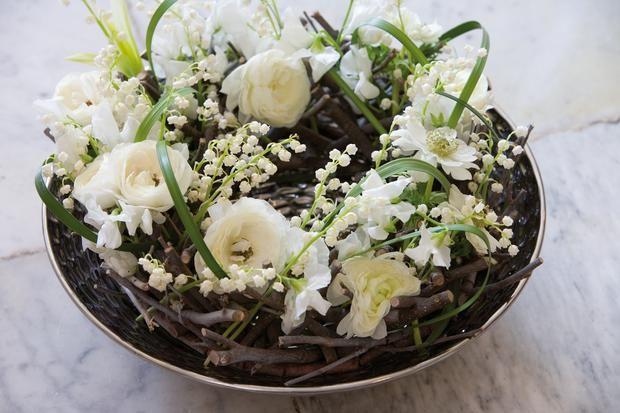stroiku na stół, komunia, kwiaty na komunię
