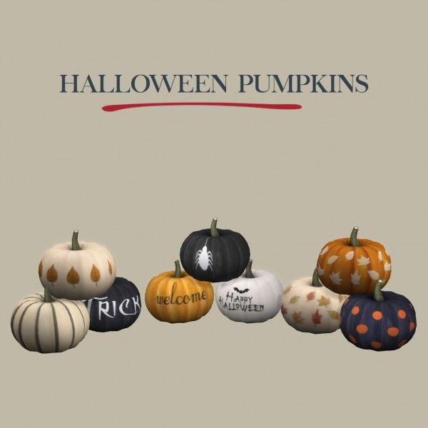 Halloween Sims 4 Cc 2020 Leo 4 Sims: Halloween pumpkins • Sims 4 Downloads in 2020 | Sims