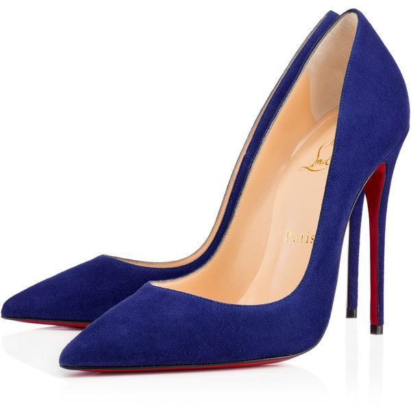 Christian Louboutin So Kate featuring polyvore, fashion, shoes, pumps, heels, christian louboutin, louboutin, navy, stiletto heel pumps, sexy pumps, pointy toe pumps, navy pumps and high heel pumps #pumpheelsstilettos