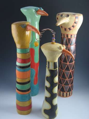 African Drum Birds -  	 Peggy Johnston